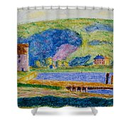 Cold Spring Harbor Shower Curtain