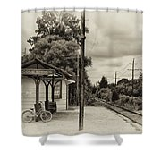 Cold Spring Train Station In Sepia Shower Curtain