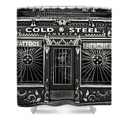 Cold Steel Bw Shower Curtain