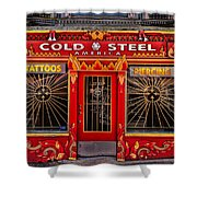 Cold Steel Shower Curtain