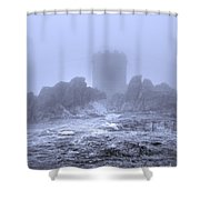 Cold Tower Of Mist Shower Curtain