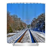 Cold Tracks Shower Curtain
