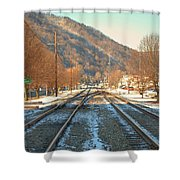 Cold Tracks Through Montgomery Shower Curtain