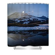 Cold Water Mountain Shower Curtain