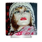 Cold Weather Cutie Shower Curtain