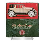 Cole Aero Eight Vintage Poster Shower Curtain