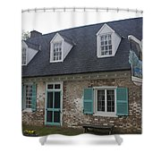 Cole Diggs House Yorktown Shower Curtain by Teresa Mucha