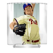 Cole Hamels Shower Curtain