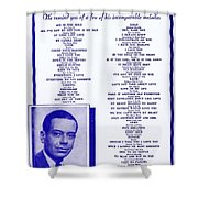 Cole Porter Shower Curtain
