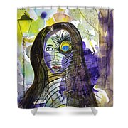 Collage Girl Shower Curtain