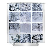 Collage January - Featured 3 Shower Curtain