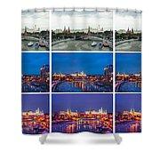 Collage - Kremlin View - Featured 3 Shower Curtain
