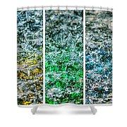 Collage Liquid Rainbow 1 - Featured 3 Shower Curtain