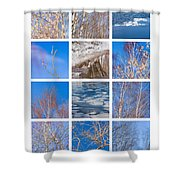 Collage March - Featured 3 Shower Curtain