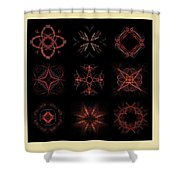 Collage Of Fractals Shower Curtain