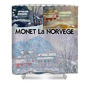 Collage Of Monet's Norwegian Works Shower Curtain