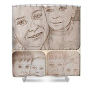 Collage Portraits Shower Curtain
