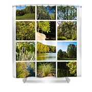 Collage September - Featured 3 Shower Curtain