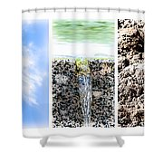 Collage The Fifth Element Shower Curtain