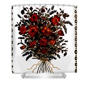 Collage With Roses And Lavander Shower Curtain