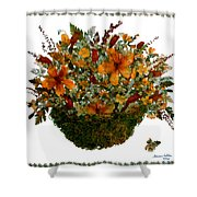 Collage With Wild Flowers Shower Curtain