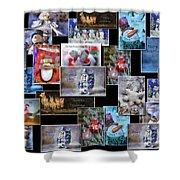 Collage Xmas Cards Horz Photo Art Shower Curtain