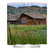 Collapsed Log House In Utah Shower Curtain
