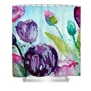 Collecting Pink And Purple Tulips Shower Curtain