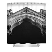 College Hall Entry - Black And White Shower Curtain