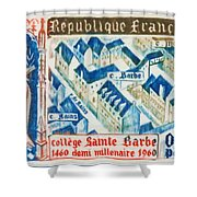College Of St. Barbe 1460-1960 Half A Millennium Shower Curtain