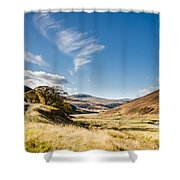 College Valley And Lambden Burn Shower Curtain