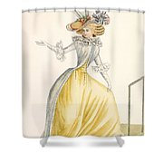 Collerette A La Henri Iv, Plate Shower Curtain