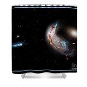 Colliding Galaxies Shower Curtain