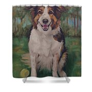Collie Shower Curtain