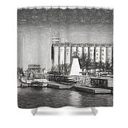 Collingwood Terminals In Old Days Shower Curtain