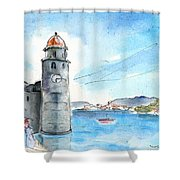 Collioure Tower Shower Curtain