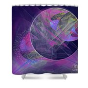 Collision Shower Curtain by Victoria Harrington
