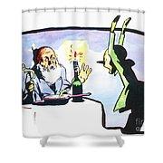 Collodi: Pinocchio/gepetto Shower Curtain