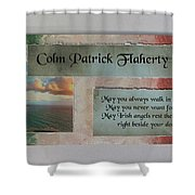 Colm Irish Name Plate Shower Curtain