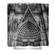 Cologne Cathedral 11 Bw Shower Curtain