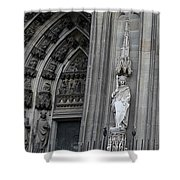 Cologne Cathedral South Side Detail 1 Shower Curtain