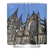 Cologne Cathedral South Side Rooflines Shower Curtain