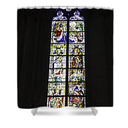 Cologne Cathedral Stained Glass Window Coronation Of The Virgin Shower Curtain