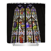 Cologne Cathedral Stained Glass Window Of Pentecost Shower Curtain