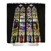 Cologne Cathedral Stained Glass Window Of The Lamentation Shower Curtain