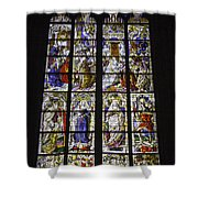 Cologne Cathedral Stained Glass Window Of The Three Holy Kings Shower Curtain