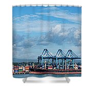 Colon Container Terminal, Panama Canal Shower Curtain