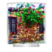 Colonia Del Sacramento Window Shower Curtain