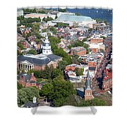 Colonial Annapolis Historic District And Maryland State House Shower Curtain