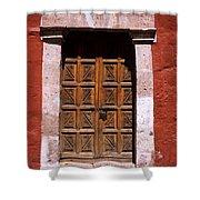 Colonial Door Arequipa Peru Shower Curtain